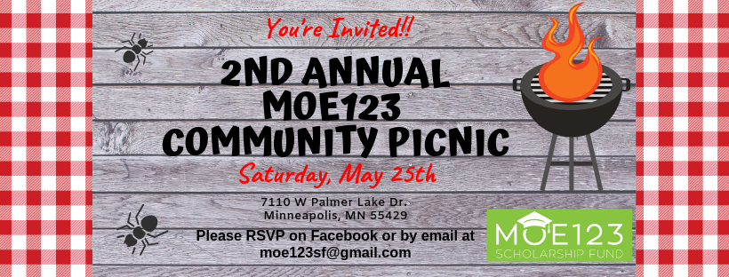 Join us for the 2nd Annual Moe123 Community Picnic