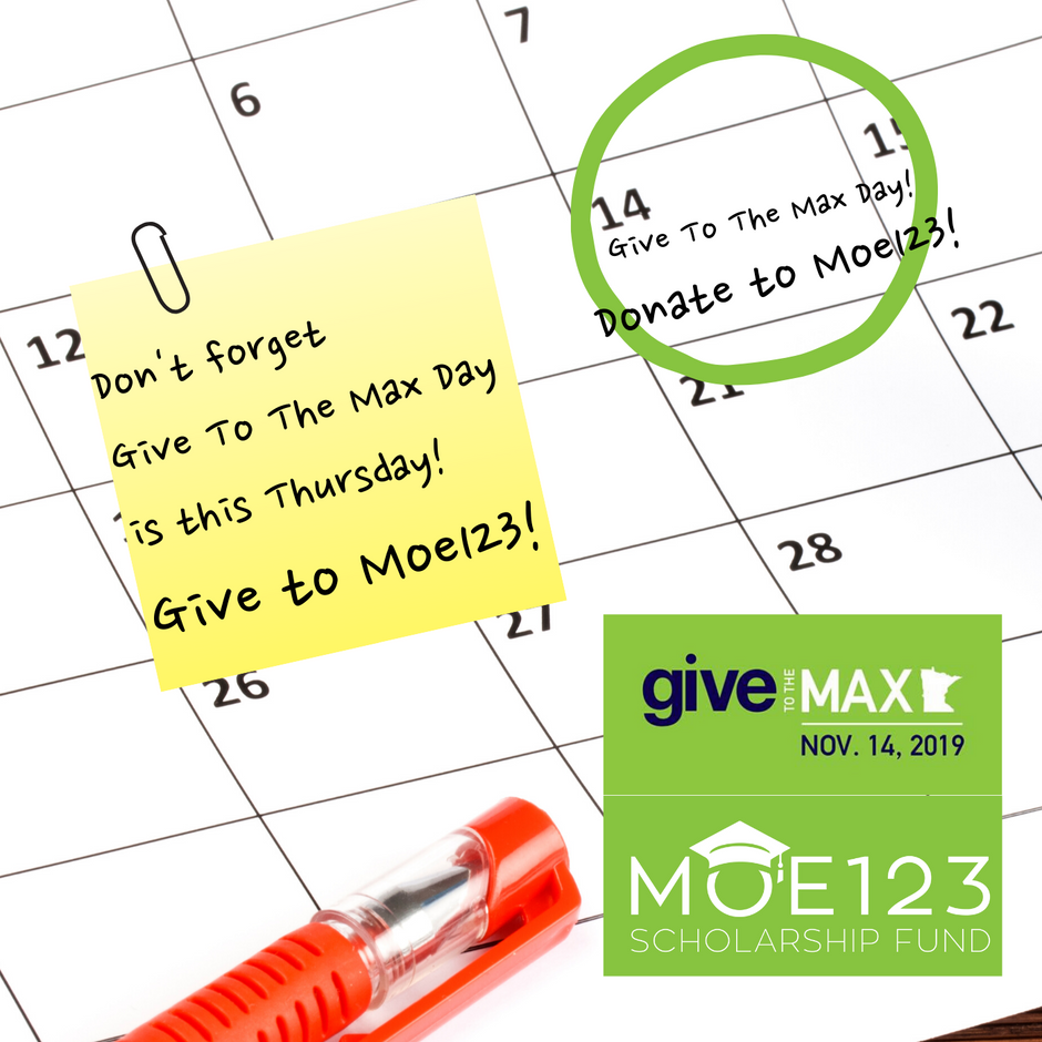 Moe123 is Ready for Give to the Max Day!