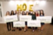 2020 Scholars with Moe123 Board members.