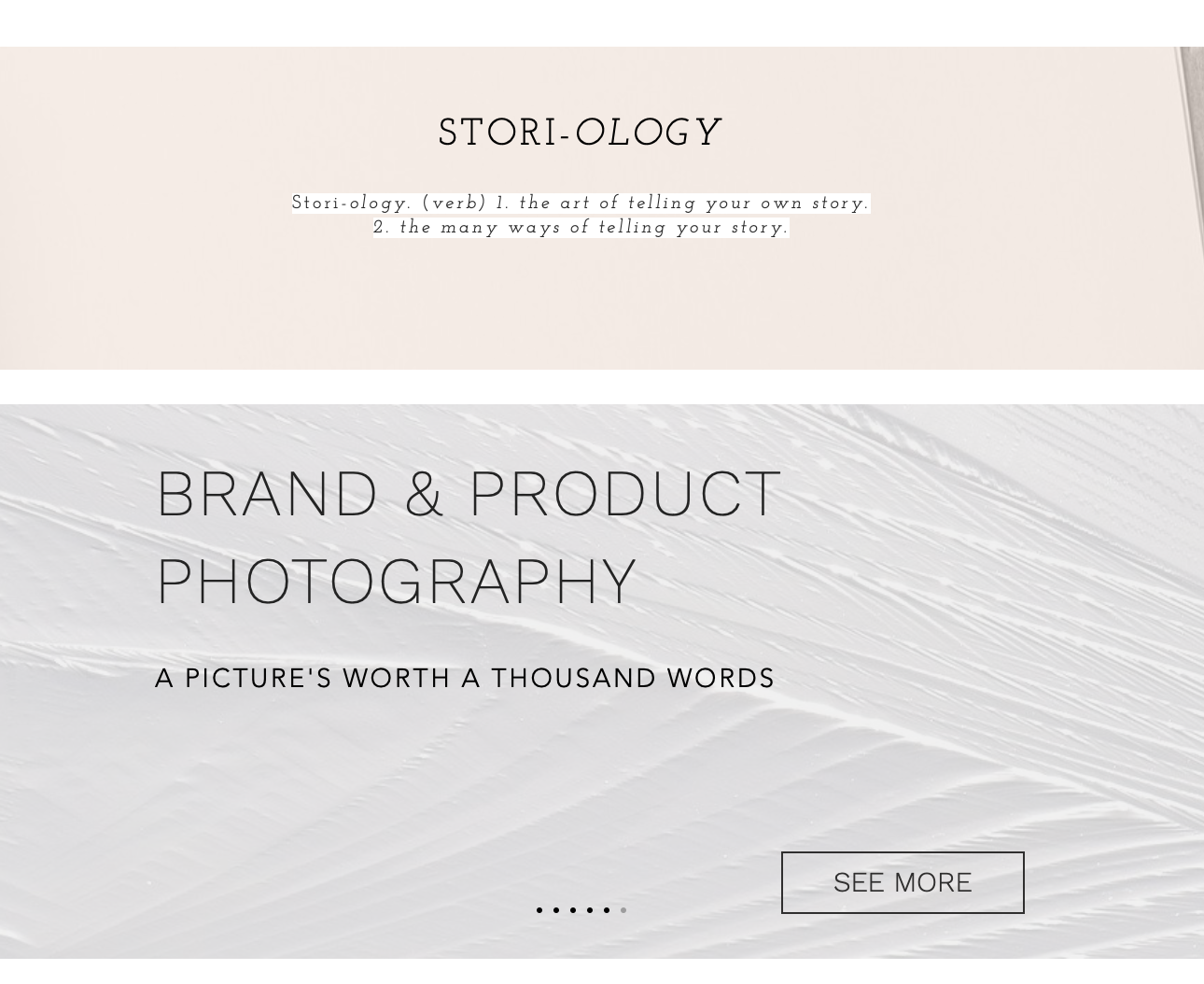 Storiology Webpage design