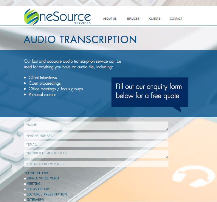 Onesource services