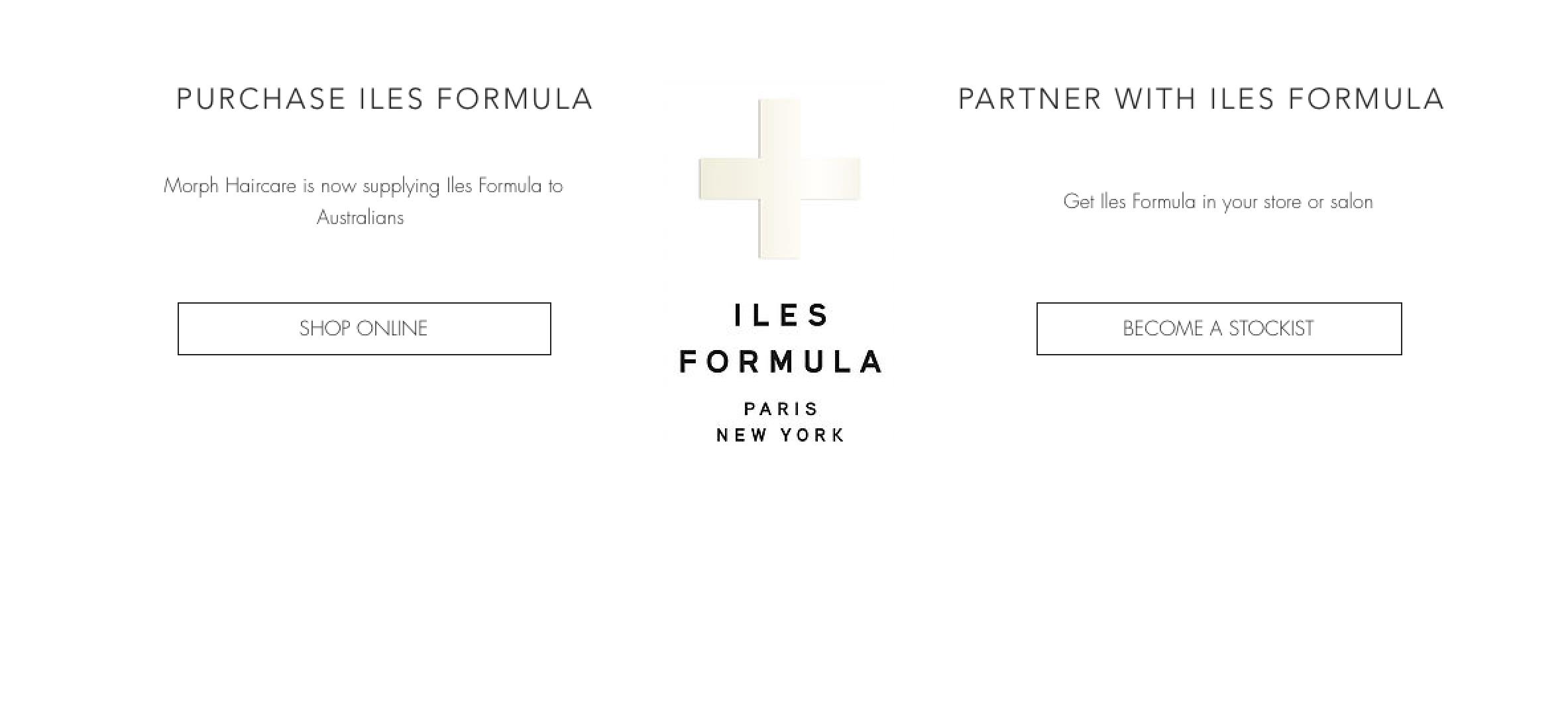 Iles Formula webpage