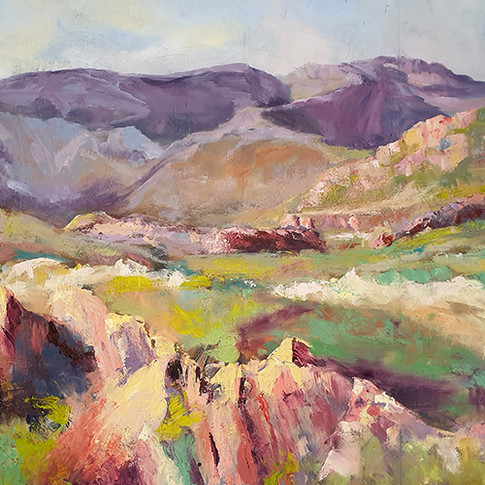 OLD DRY STONE WALL PHILIPPA HEADLEY 24X30 OIL PAINTING