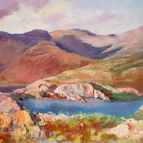 POOL WITH A VIEW PHILIPPA HEADLEY 24X30 OIL PAINTING