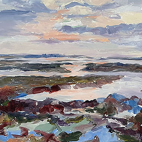 PHILIPPA HEADLEY OIL PAINTING LOW WATER AT THE MARSHES FULL FRONTAL.jpg