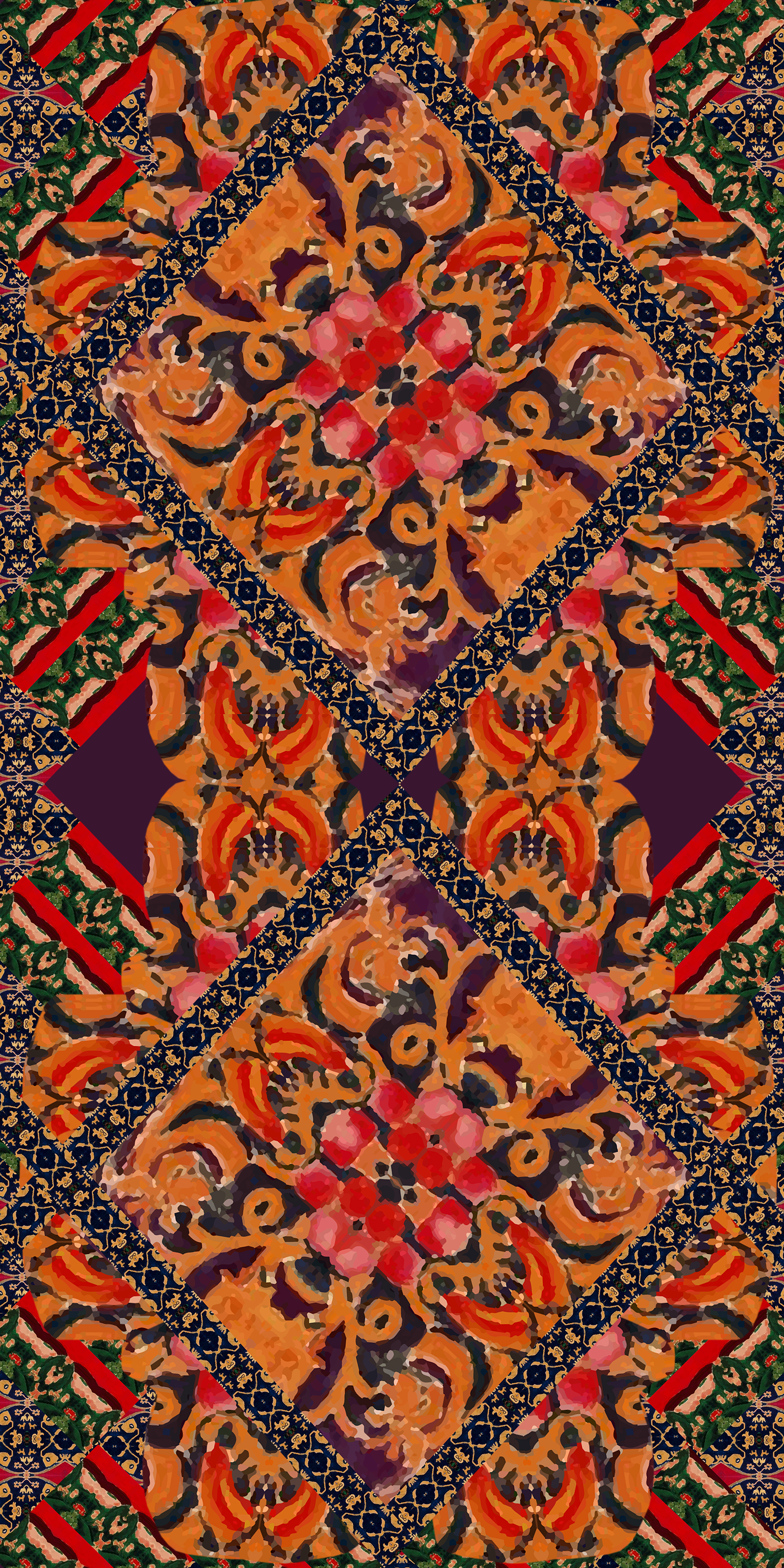 Painted Rug Motif CAD