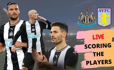 Newcastle United vs Aston Villa | Scoring the Players