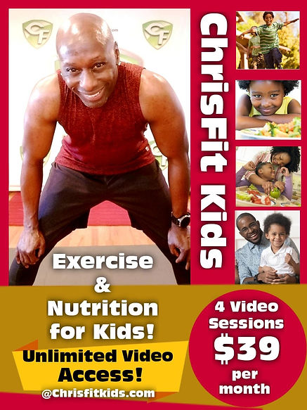 ChrisFit Kids Exercise and Nutrition Ad.