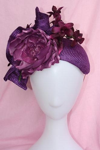 Purple Floral Band Hat