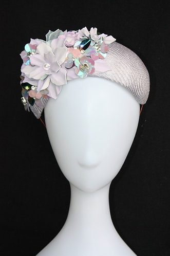 Lilac Tones Duchess Band Hat with Shimmer