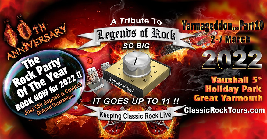 Book now for Legends of Rock 2022