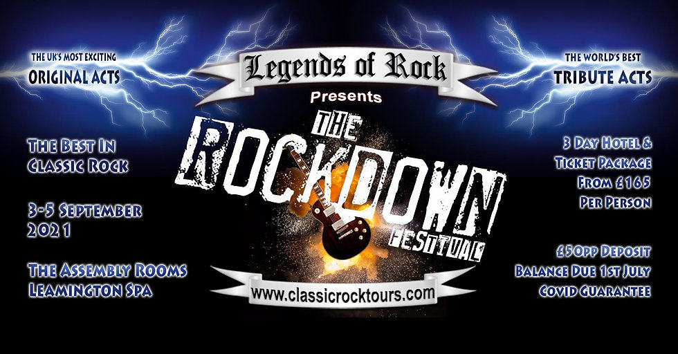 Market Square Heroes® are excited to be associated with Classic Rock Tours again for The Rockdown. See you in September.