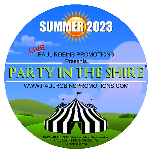 Paul Robins promotions presents Party In The Shire, a mamoth 3 day festival scheduled for the summer of 2023