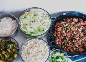 Asian Sesame Beef Stir Fry Lunch Prep