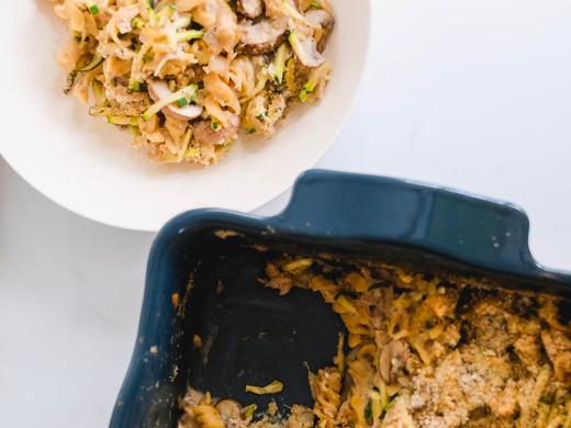Healthy Tuna Chickpea Noodle Casserole