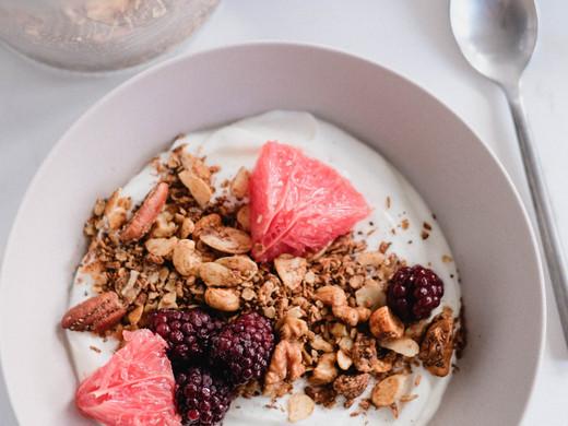 Grapefruit & Granola Yogurt Bowl