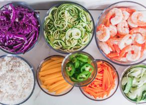 Shrimp Summer Roll Lunch Prep