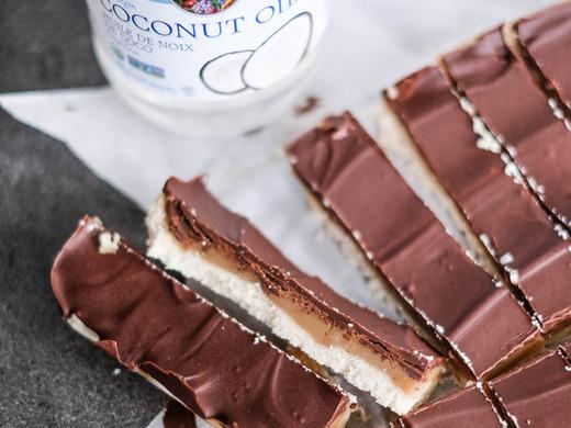 Healthy No-Bake Twix Bars