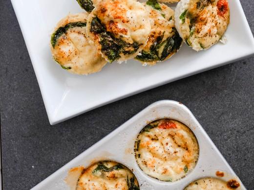 Spinach, Ricotta & Tomato Egg Cups