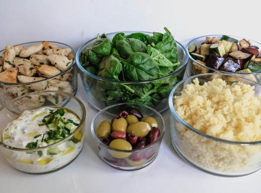 Mediterranean Chicken Lunch Prep