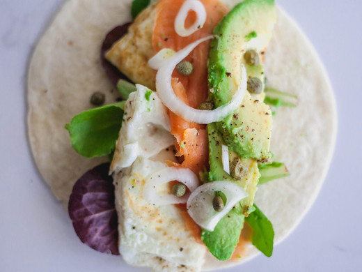 Smoked Salmon Breakfast Tacos
