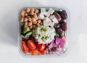 Greek-Inspired Vegetarian Chickpea Macro Bowl