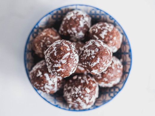 Chocolate, PB + Coconut Protein Balls