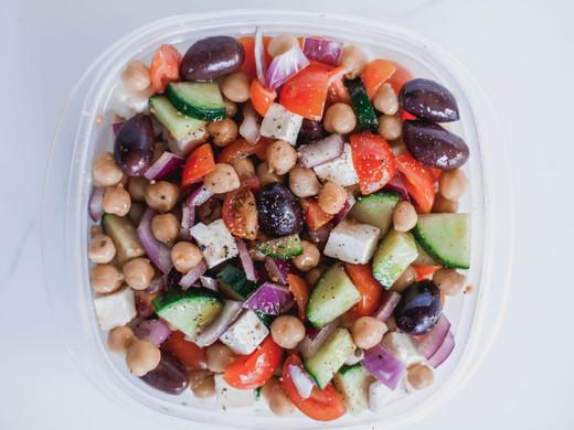 Vegetarian Chickpea Greek Salad
