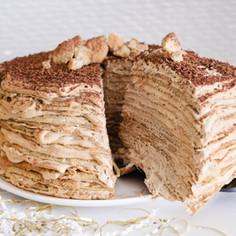 Tiramisu Protein Crepe Cake