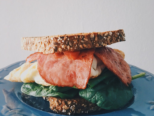 Easy High Protein Breakfast Sandwich