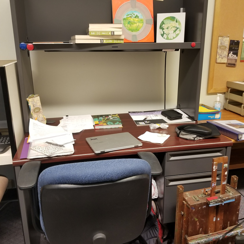 One of Deirdre's work stations at Winterthur