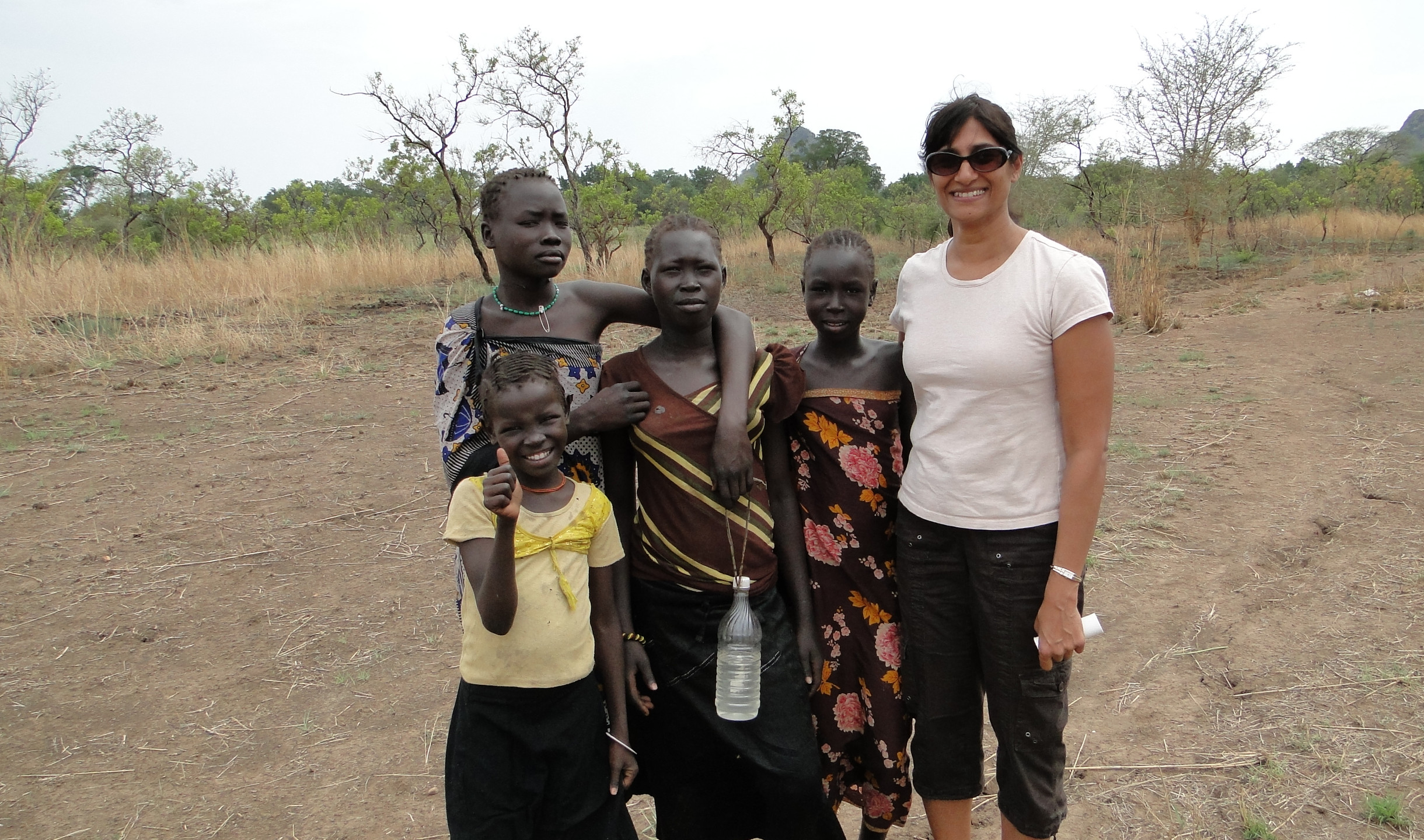 South Sudan coffee research with local villagers