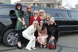 Limo Day for Galentine's