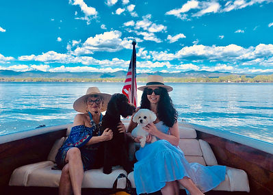 Jenni, Me and the Pups on Loveland Lake