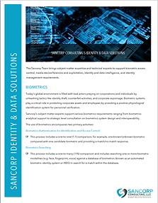 Identity & Data Solutions Brochure image