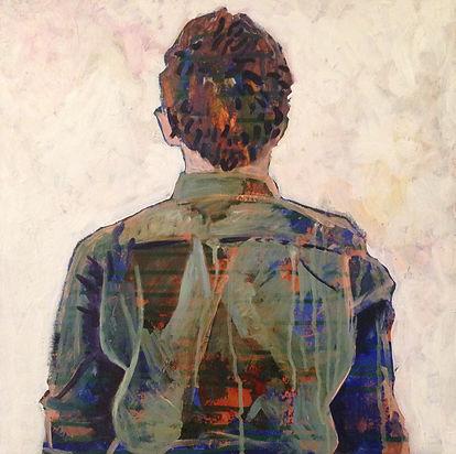 self portrait, chloe wilson, acrylic, 2014