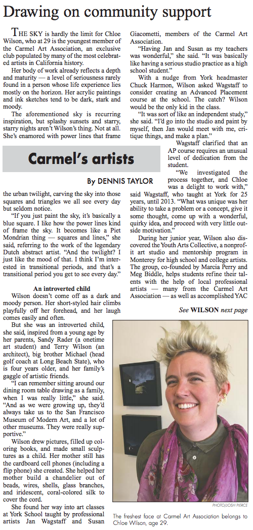 Carmel Pine Cone Article!