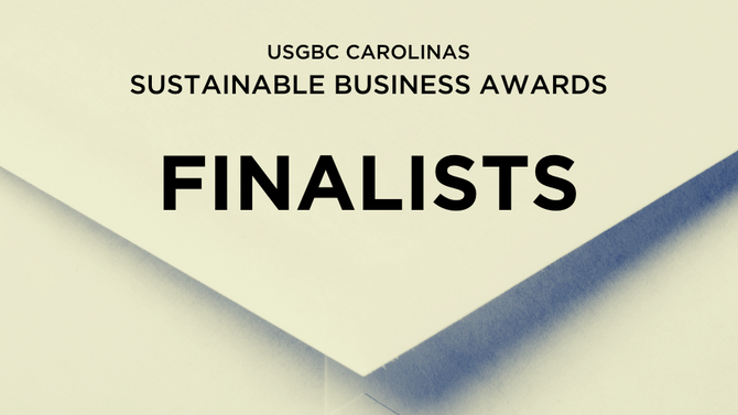 USGBC communities in the Carolinas announce 2019 Sustainable Business Awards finalists