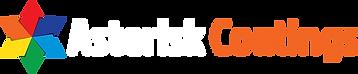 Asterisk Coatings logo use on dark colou
