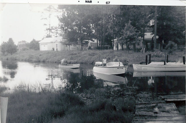Creek and dock, 1967