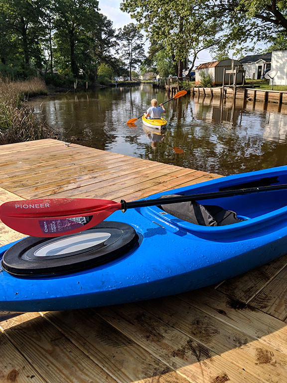 Kayak off the dock.jpg