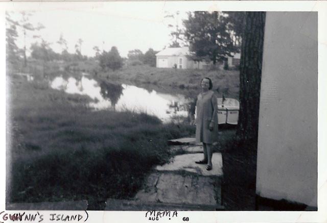 Grandma on dock, 1968