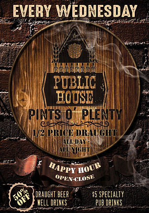 Best All Day Happy Hour In Prescott, Half-Off Draft Beer & Well Drinks