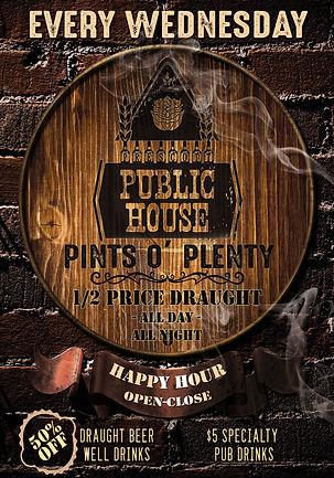 Best All Day Happy Hour In Prescott, Half-Off Draft Beer & Well Drinks