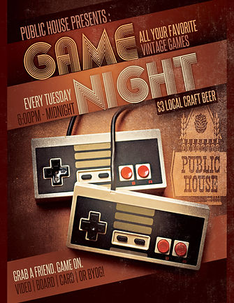 Tuesday Night Game Night Local Craft Beer Specials