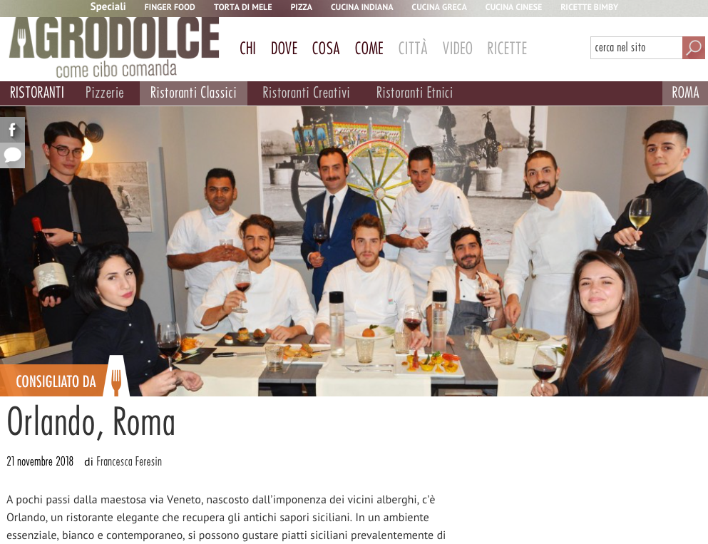 Recensione | agrodolce.it