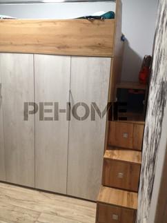 Шкаф гармошка - кровать чердак