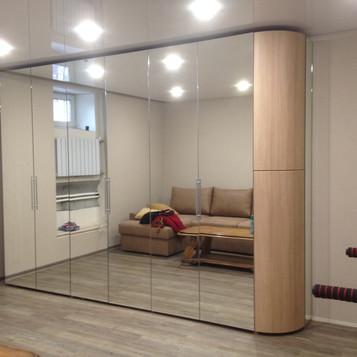 Шкаф гармошка с радиусной дверцей