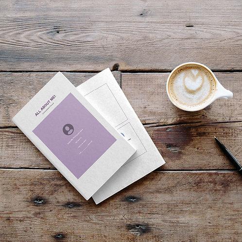 Purple communication passport template