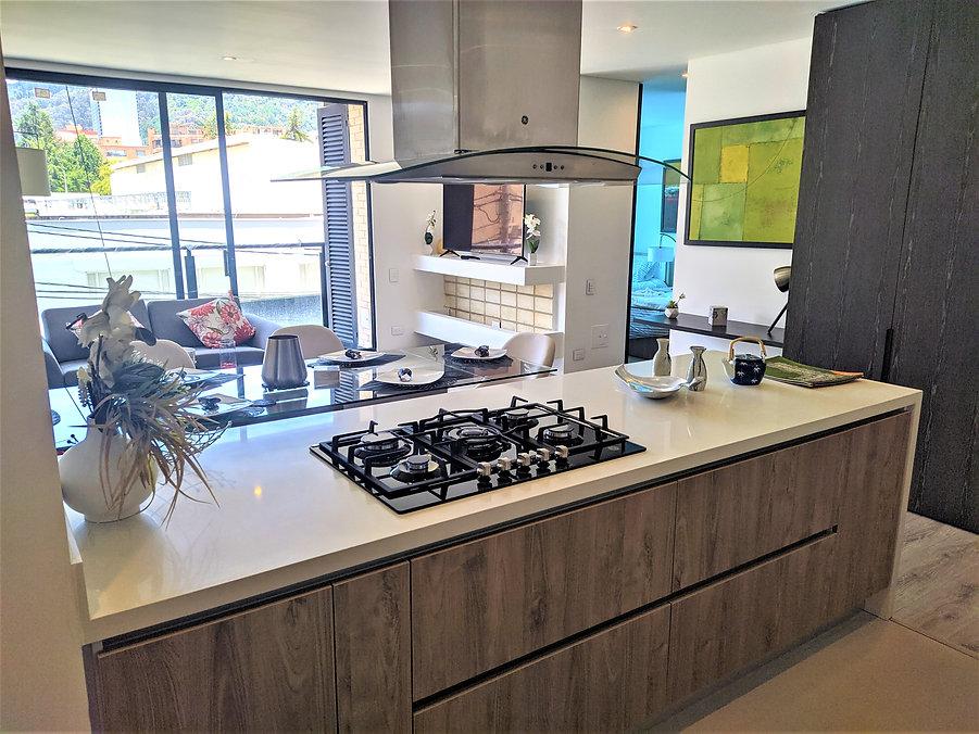 3 Cocina Mueble de Estufa Apartamento Sa